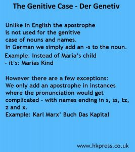 The genitive case