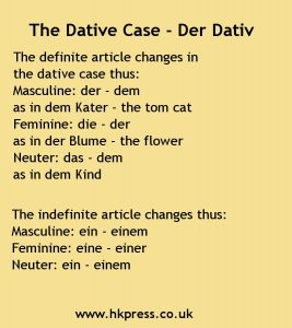 Dative case 2